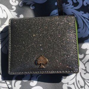 Kate Spade Silver Glitter Wallet NWT